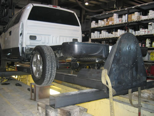 Crane and boom truck 4